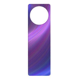 Purple storm door knob hangers