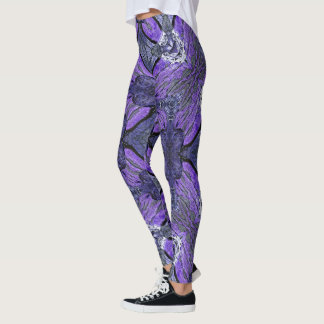 Purple Storm Geometric Leggings