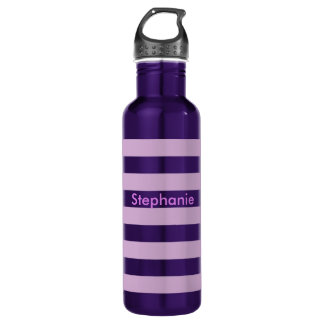 Purple Stripe 710 Ml Water Bottle