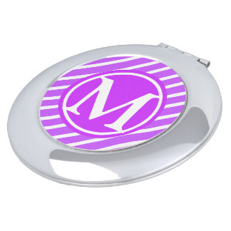 Purple Stripe D1 Monogram Travel Mirrors