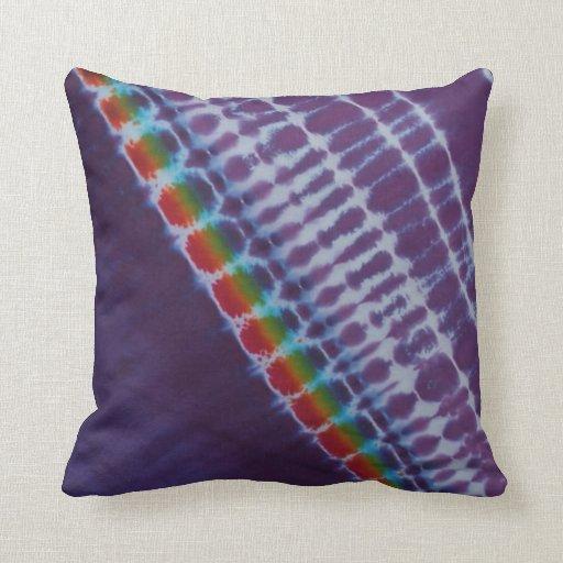 Purple Stripe Tie Dye American MoJo Pillow