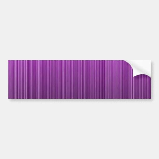 Purple Striped Bumper Stickers