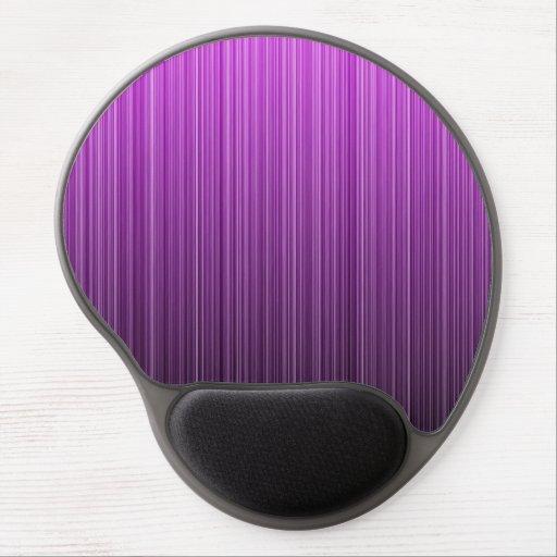 Purple Striped Gel Mousepad