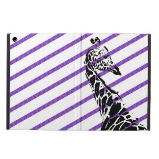Purple Striped Giraffe iPad Air Covers