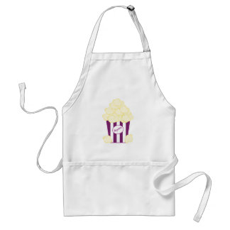 Purple Striped Movie Popcorn Standard Apron