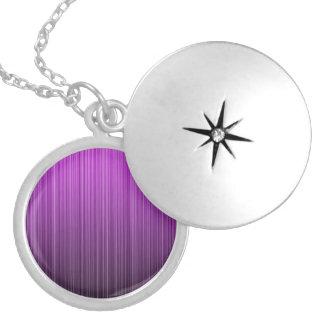 Purple Striped Pendants
