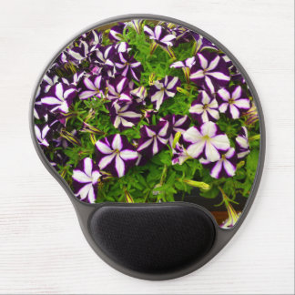 Purple Striped Petunias Gel Mouse Pad