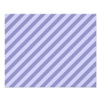 Purple stripes. 11.5 cm x 14 cm flyer