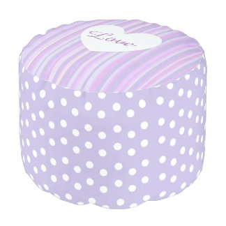 Purple Stripes and Polka Dot Big Pillow Pouf