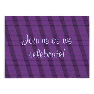 Purple Stripes on More Purple - Anniversary 14 Cm X 19 Cm Invitation Card