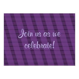 Purple Stripes on More Purple - Anniversary 5.5x7.5 Paper Invitation Card