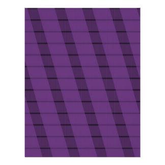 Purple Stripes on More Purple 21.5 Cm X 28 Cm Flyer