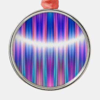 Purple stripes pattern metal ornament