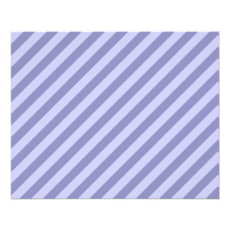 Purple stripes personalized flyer