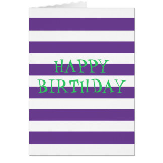 Purple Stripes Postage/Stamps Greeting Card