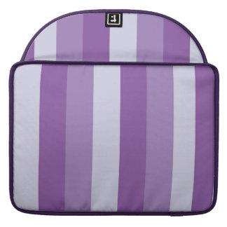 Purple Stripes Rickshaw Flap Sleeve MacBook Pro Sleeve