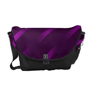 Purple Stripes Rickshaw Messenger Bag