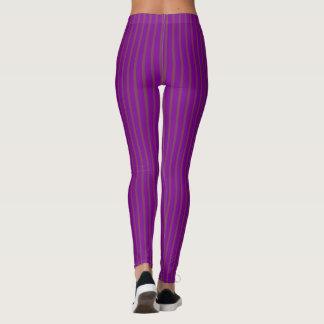 Purple Stripes Slimmer Look Simple Trendy Stylish Leggings