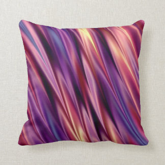Purple stripes sunset colors cushion