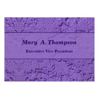 Purple Stucco Texture Pack Of Chubby Business Cards