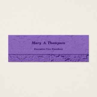 Purple Stucco Texture Mini Business Card