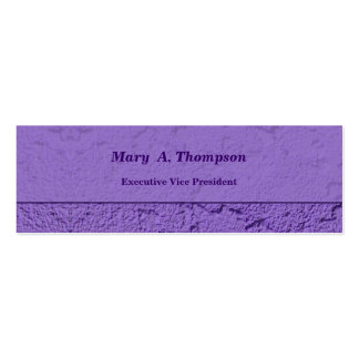 Purple Stucco Texture Pack Of Skinny Business Cards