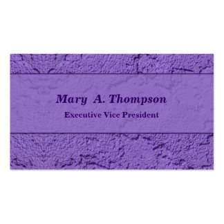 Purple Stucco Texture Pack Of Standard Business Cards