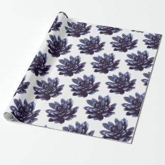 Purple Succulents Plant Wrapping Paper
