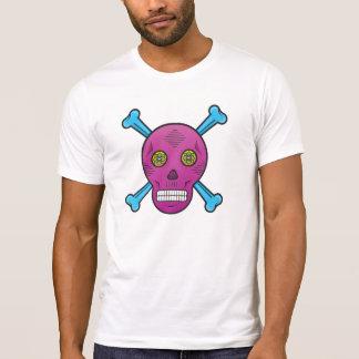 Purple Sugar skull and bones T-Shirt