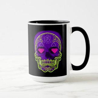 Purple Sugar Skull Mug