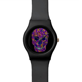 Purple Sugar Skull Watercolour May28th Watch