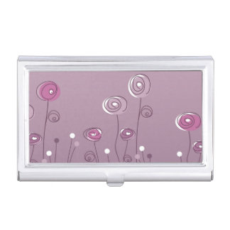 Purple Summer Business Card Cases