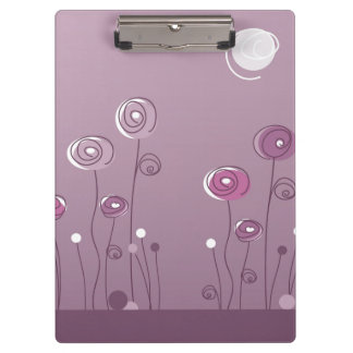 Purple Summer Clipboard