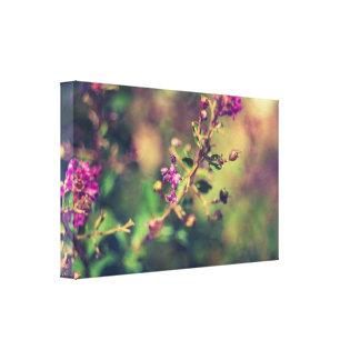 Purple summer nature canvas print