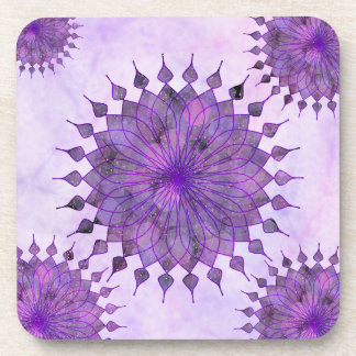purple sun - home decor & set coaster
