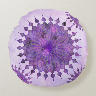 purple sun - home decor & set round cushion