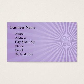 Purple Sunburst Business Card