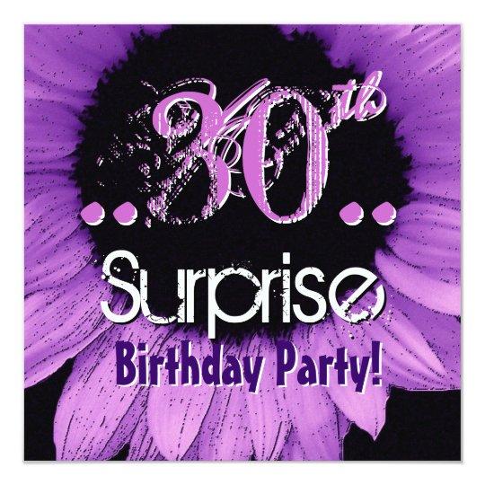 Purple Sunflower 30th Surprise Birthday Template