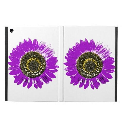 Purple Sunflower iPad Air Cases