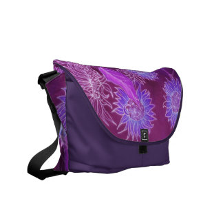 Purple Sunflowers Courier Bags