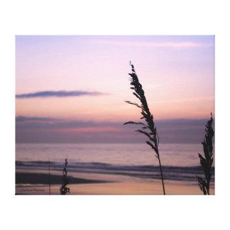 Purple Sunrise with Sea Oats Canvas Print