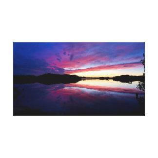 "Purple Sunset     30""x17"" Canvas Print"