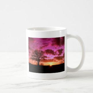 Purple Sunset Basic White Mug