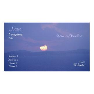 Purple Sunset Business/Profile Card Business Card