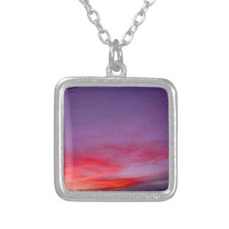 Purple sunset necklace