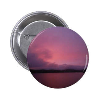 Purple sunset on Lake Arrowhead Pinback Button
