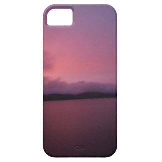 Purple sunset on Lake Arrowhead iPhone 5 Covers