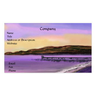 Purple Sunset over the Pier Business Card