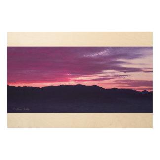 Purple Sunset Wood Wall Art