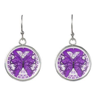 Purple Support Earrings